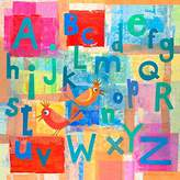 Oopsy Daisy Fine Art For Kids alphabet with kooky birds stretched canvas art by gale kaseguma