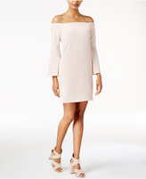 Bar III Off-The-Shoulder Bell-Sleeve Dress, Only at Macy's