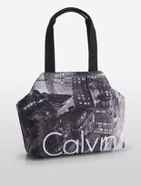 Calvin Klein Cityscape Nylon Tote