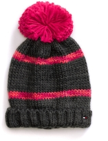 Tommy Hilfiger Stripe Pom-Pom Hat