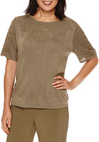 Alfred Dunner Cactus Ranch Short Sleeve Sweater Shell