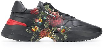 DSQUARED2 Floral Painted Sneakers