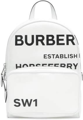 Burberry Coated Canvas Horseferry Backpack