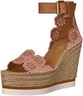 See by Chloe Women's Glyn Floral Espadrille Wedge Sandal