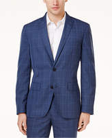 INC International Concepts I.N.C. Men's Slim-Fit Blue Glen Plaid Blazer, Created for Macy's