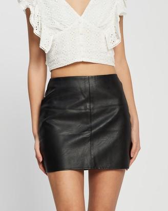 Missguided Petite Faux Leather Mini Skirt