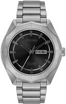 Citizen Black Super Titanium Bracelet Watch - Men