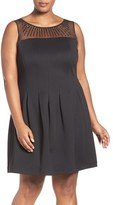 Ellen Tracy Plus Size Women's Beaded Fit & Flare Dress