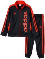 adidas Boys 4-7x Tricot-Knit Track Jacket & Jogger Pants Set