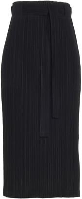 Pleats Please Issey Miyake Bow-Waist Detailed Pleated Skirt
