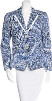 Etro Abstract Print Fitted Blazer