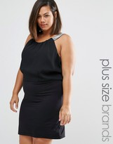 Junarose Plus Ruby Dress With Strap Detail