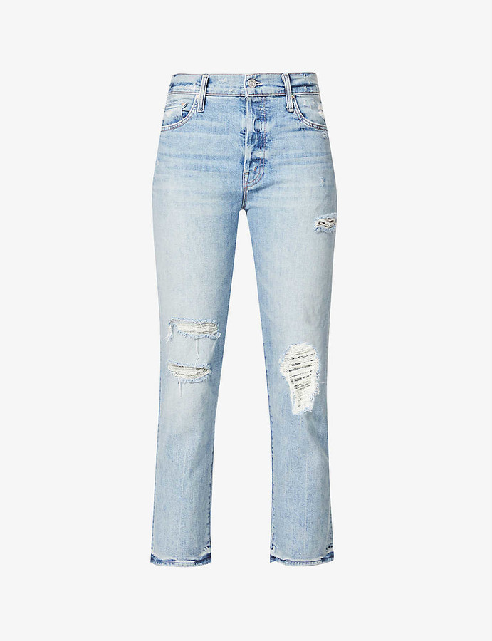 Thumbnail for your product : Mother The Scrapper Ankle straight high-rise jeans
