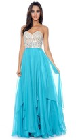Decode 1.8 Multi-Layered Chiffon Sweetheart Gown 182502