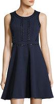 Free Generation Sleeveless Stud-Embellished Dress, Navy
