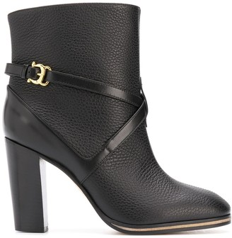 Pollini Side Buckle Ankle Boots