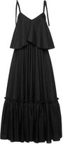 Salvatore Ferragamo Black Cotton Poplin Bi-Level Dress
