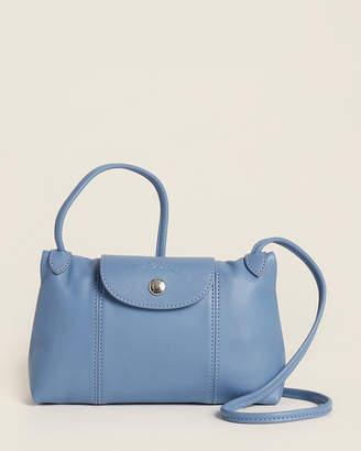 Longchamp Le Pliage Cuir Blue Crossbody
