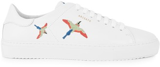 Axel Arigato Clean 90 Bird Embroidered Leather Sneakers
