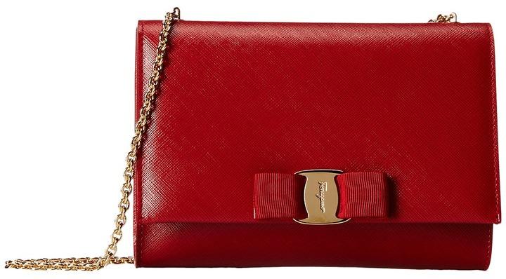 Salvatore Ferragamo B558 Miss Vara Mini Bag Clutch Handbags