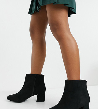 Simply Be extra wide fit boot with block heel in black