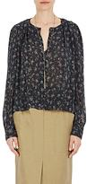 Isabel Marant Women's Thalio Silk-Blend Crop Blouse