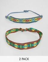 Asos FESTIVAL Geometric Multi Color Bracelet Pack