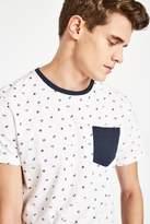 Jack Wills Eagle Boat Print T-Shirt