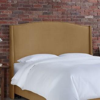 Willa Arlo Interiors Doleman Contemporary Upholstered Wingback Headboard Size: Full, Upholstery: Honey