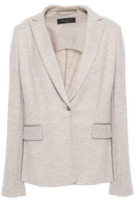Rag & Bone Lexington Grosgrain-trimmed Wool Blazer
