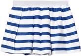 Absorba Blue Glitter and White Stripe Skirt