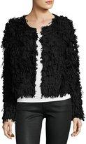 525 America Textured Long-Sleeve Crop Jacket, Black