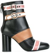 Lanvin buckled panel ankle boots - women - Calf Leather/Leather - 36