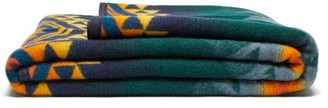 Pendleton Wildland Heroes Wool-blend Blanket - Green Print