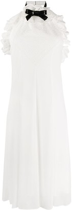 Philosophy di Lorenzo Serafini Ruffled Halterneck Midi Dress