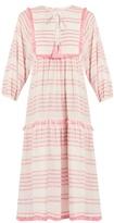 Zimmermann Valour striped cotton-blend dress