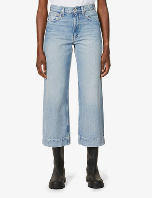 TRAVE Audrey high-rise wide leg cropped jeans