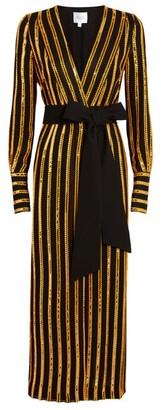 Galvan Sequin-Embellished Pride Wrap Dress
