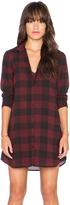 BB Dakota Cotter Plaid Shirt Dress