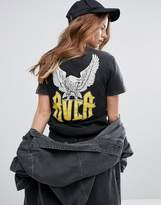 RVCA Boyfriend T-Shirt With Wings Back Graphic