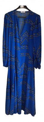 Ganni Blue Silk Dresses