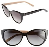 Bobbi Brown Women's 'The Marylins' 56Mm Cat Eye Sunglasses - Black/ Nude