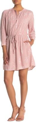 Dr2 By Daniel Rainn 3/4 Sleeve Drawstring Waist Dress (Petite)