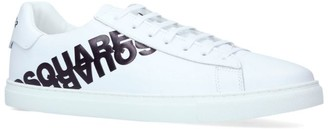 DSQUARED2 Leather Logo Sneakers