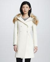 Elizabeth and James Janeane Fur-Collar Coat
