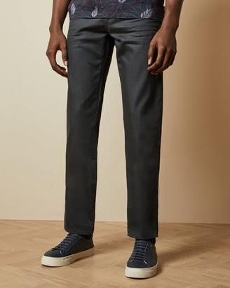 Ted Baker Original Fit Cotton Printed Hem Jeans
