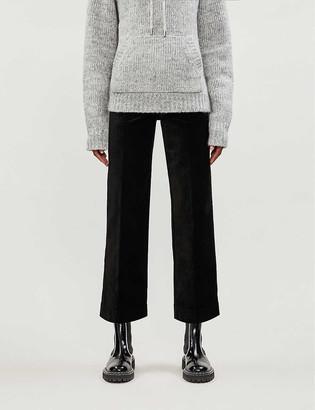 Paige Nellie Culotte wide-leg mid-rise velvet trousers