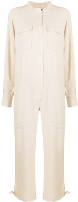 Isabel Marant Long-Sleeve Collarless Jumpsuit