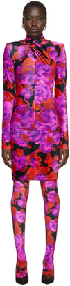 Richard Quinn Red Floral Dress