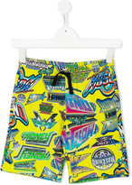 Moschino Kids - printed shorts - kids - Cotton - 5 yrs